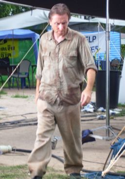 Tim Roth in action on the set